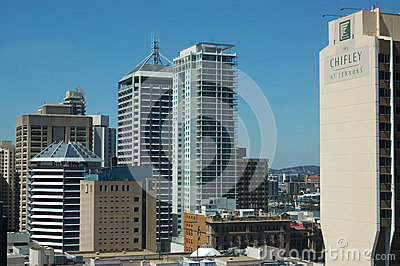 Brisbane business area Editorial Stock Photo