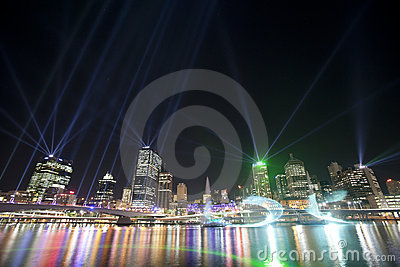 Brisbane City of Lights Show Editorial Photo
