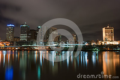 Brisbane City At Night - Queensland - Australia