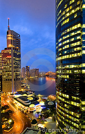 Free Brisbane City Skyline Royalty Free Stock Photography - 4313987