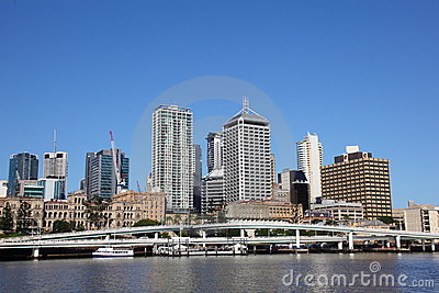 Brisbane City from South Bank Editorial Photo