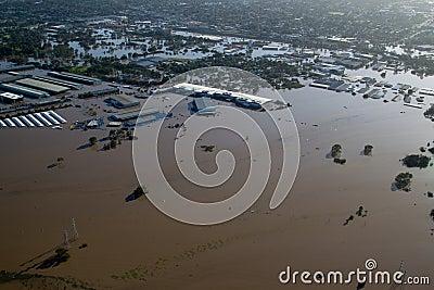 Brisbane Flood 2011 Aerial View Rocklea Markets &