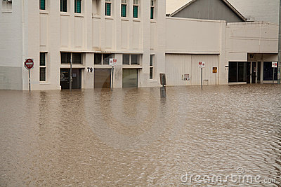 Brisbane Floods: Shops Editorial Stock Image