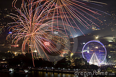 Brisbane Riverfire Celebration 2011 Editorial Photo