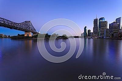 Brisbane at twilight
