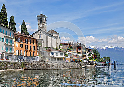 Brissago,Ticino Canton,Lake Maggiore,Switzerland