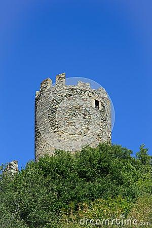 Brissogne castle ruins