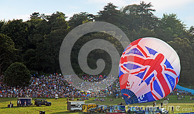 Bristol Balloon Festival 2012 Team GB hot balloon Editorial Image