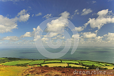 The Bristol channel from Porlock, Devon