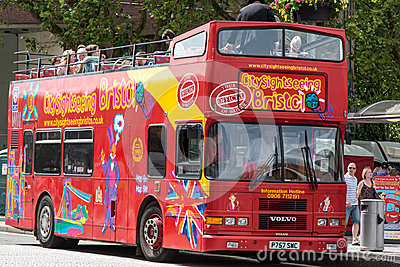 Bristol City Sightseeing Bus Editorial Stock Photo
