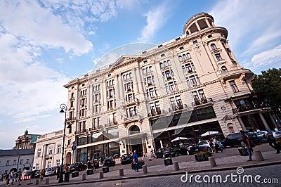 Bristol Hotel in Warsaw Editorial Photo
