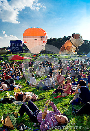 Bristol International Balloon festival 2012 Editorial Stock Photo