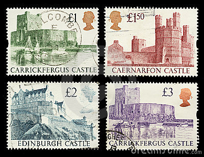 Britain Castle Postage Stamps