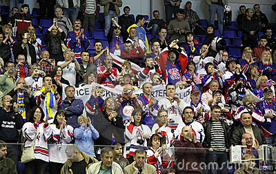 Britain ice-hockey fans Editorial Stock Image
