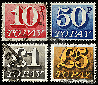 Britain Postage Due Stamps