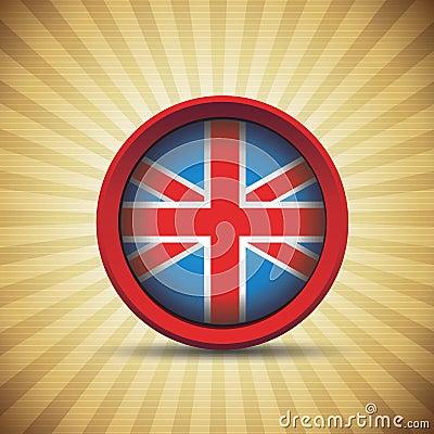 Britain retro flag