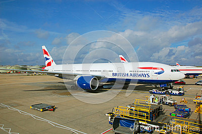 Brithish Airways aircraft Editorial Stock Image