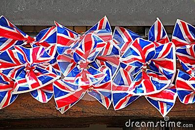 Britische Markierungsfahnenbögen