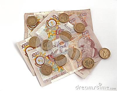 Britisches (britisches) Bargeld