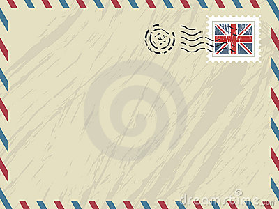 British airmail envelope