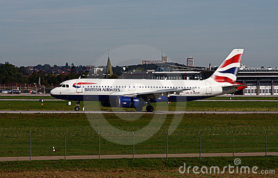 British Airways A-320 Foto de Stock Editorial