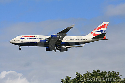 British Airways 747 passenger jet Editorial Image