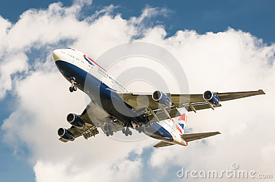 British Airways Boeing 747 Editorial Stock Image