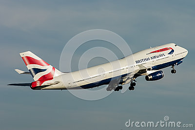 British Airways Boeing 747 Jumbo Jet Editorial Photography