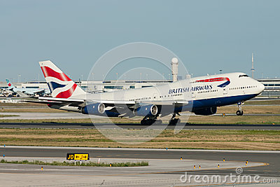 British Airways Boeing 747 Jumbo Jet Taking Off Editorial Photo