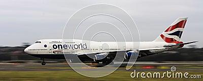 British airways Boeing747 jet on runway Editorial Photography