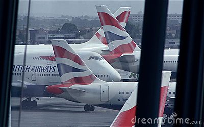 British Airways at London Heathrow, T5 Editorial Stock Photo