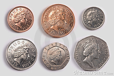 British coins: heads