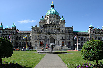 British Columbia Parliament Buildings Editorial Image