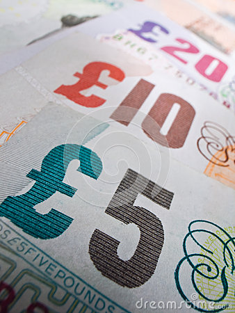 British Currency Close-up