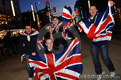 British Fans Editorial Photography