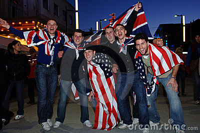 British Fans Editorial Stock Photo
