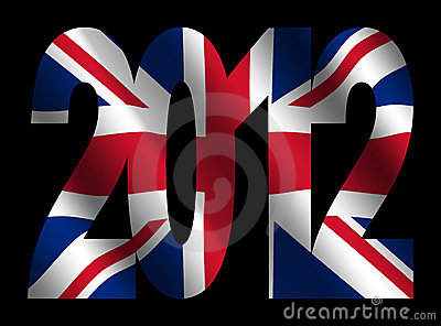 British flag and 2012 text