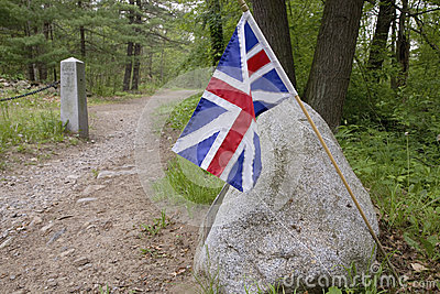 British Flag on Battle Road
