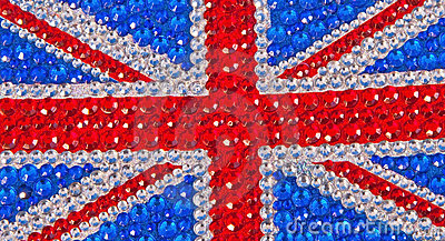 British flag designed with sparkle !