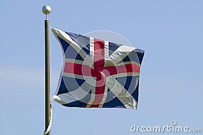 British flag flies