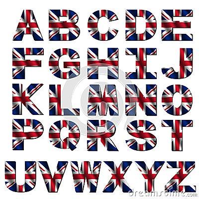 British flag font