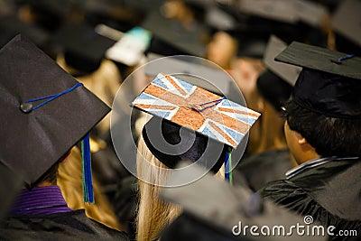 British Flag on Graduate s Cap Editorial Photo
