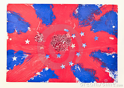 British flag painting