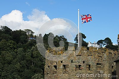 British flag in the tower