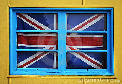 British flag in a window
