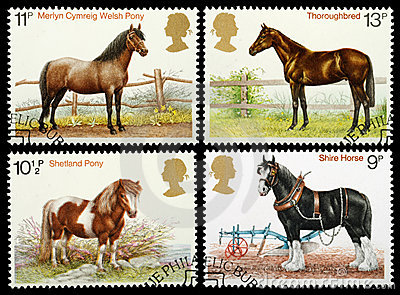 British Horse Postage Stamps