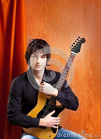 British indie pop rock look young musician
