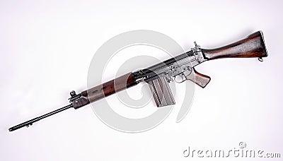 British L1A1 SLR assault rifle.