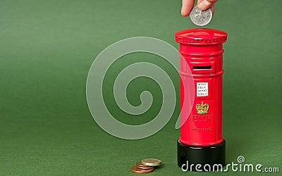 British mailpost piggybank