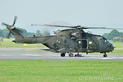 British Merlin Helicopter Editorial Stock Image